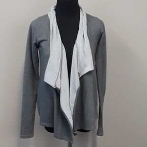 PCH gray open front terry cardigan size Medium